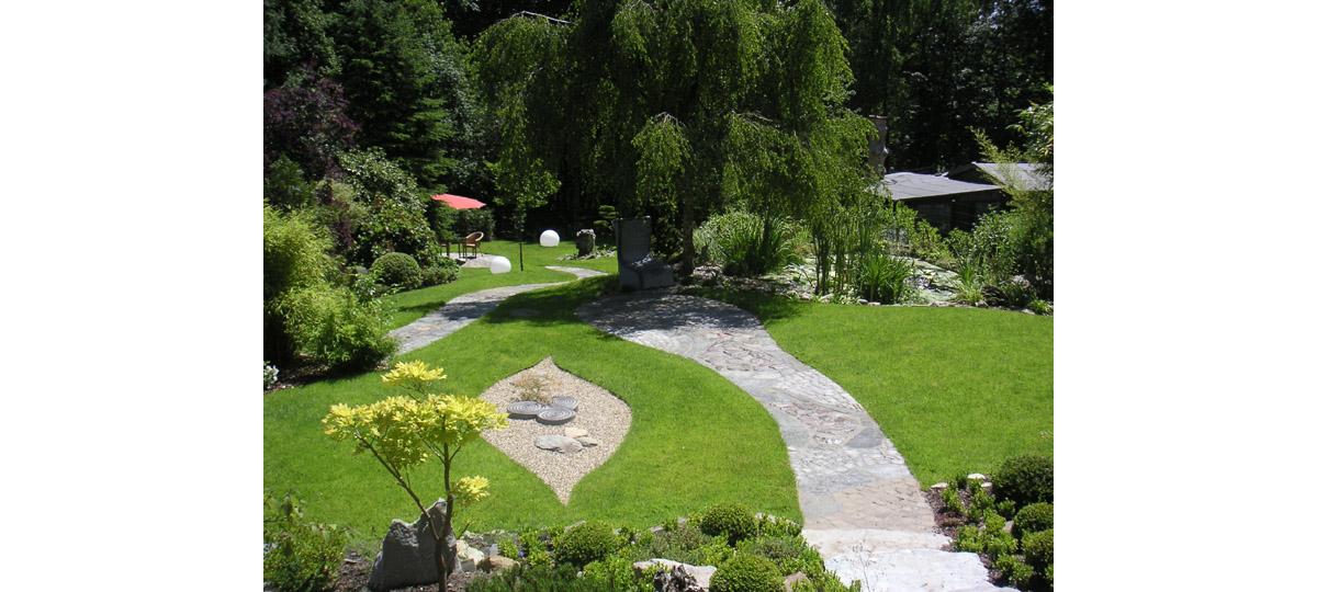 Prasixbeispiele geomantischer Gartengestaltung
