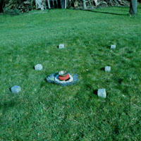 geomantische Kraftortgestaltung für eine Meditation