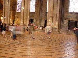 Das Labyrinth in der Kathedrale von Chartre, Frankreich