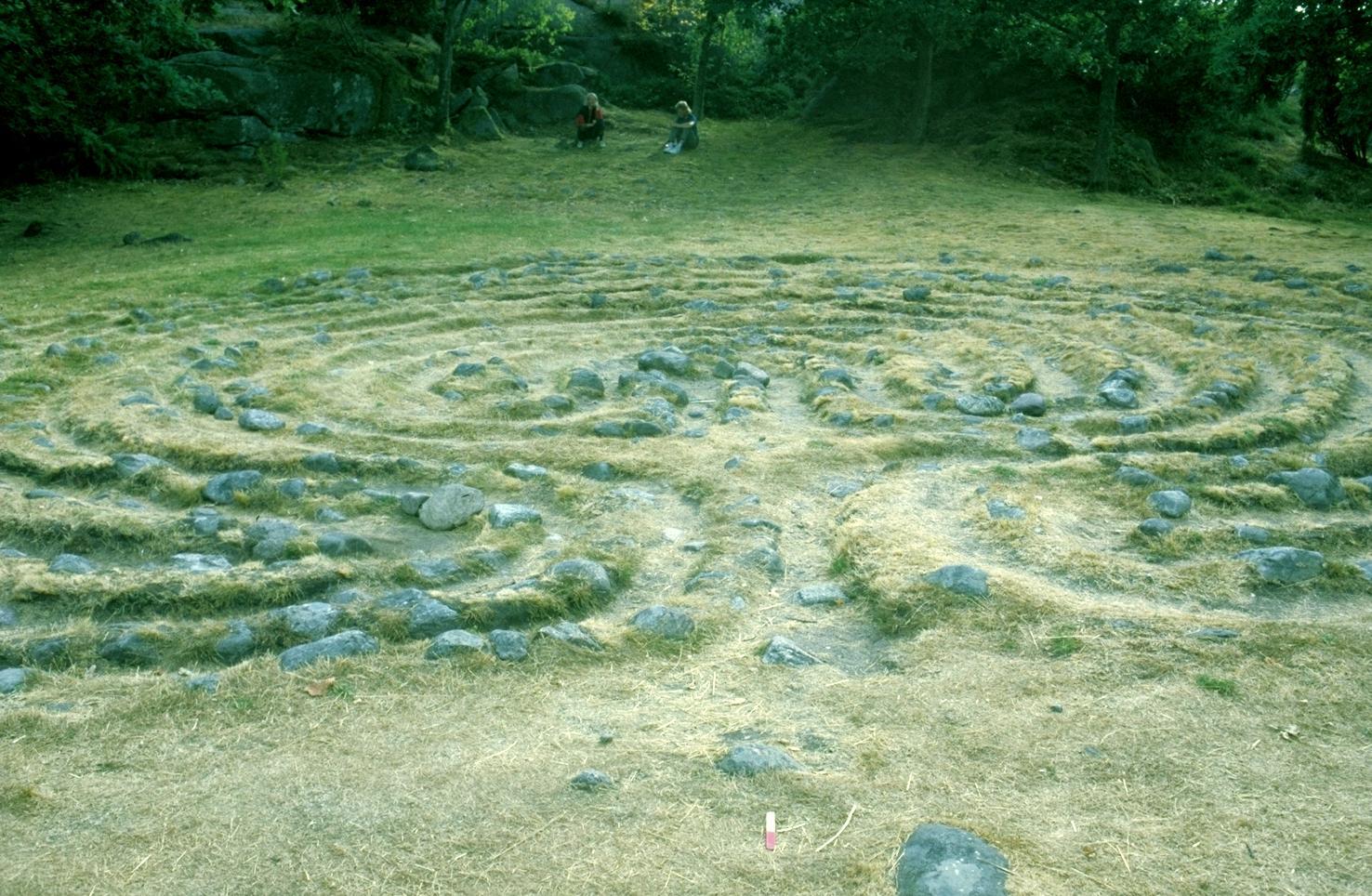 Das Original-Labyrinth der Grafiken - Im Volksbrauchtum wird es auch als Tanzplatz beschrieben.
