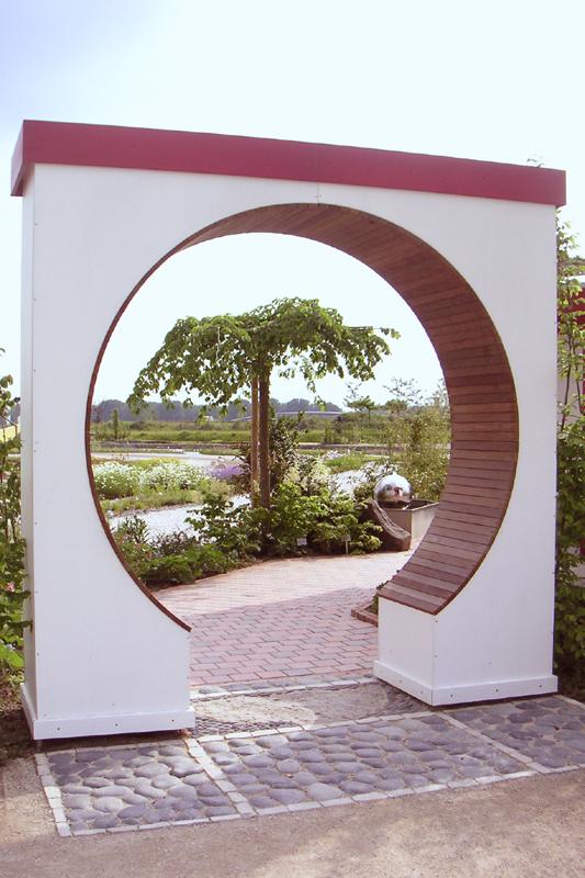 Eingang zum Feng Shui-Garten der Landesgartenschau