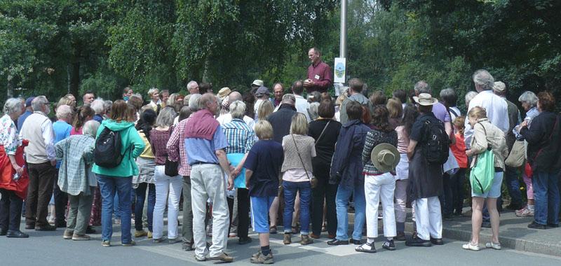 Teilnehmer der geomantischen Exkursion im Muttental in Witten anlässlich meines 25jährigen Betriebsjubiläums im Jahr 2013