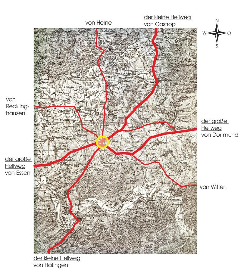 Der große und kleine Hellweg und das alte Fernwegenetz von Bochum