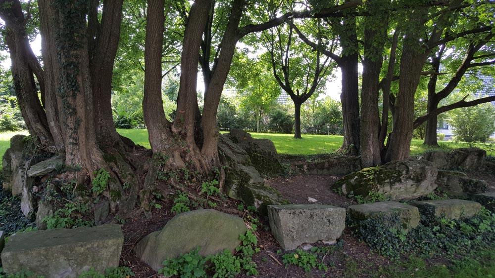 Seitenansicht des Megalithengrab Kirchborchen II