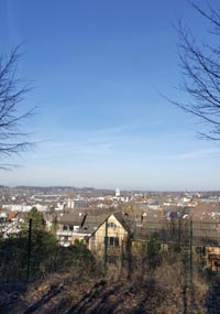 Blick vom Helenenberg zum Wittener Zentrum in Richtung Langendreer